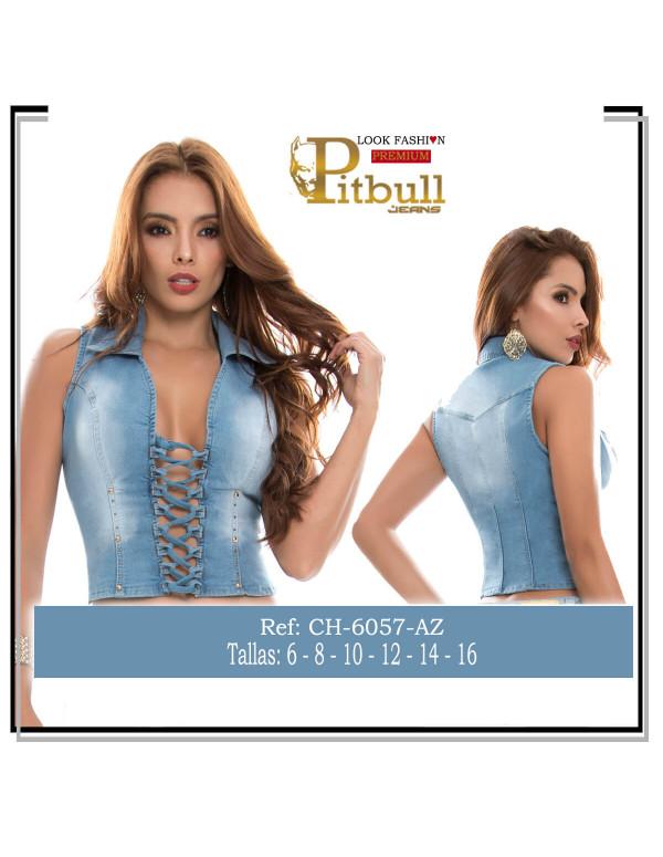 chaleco azul pitbull ch6057