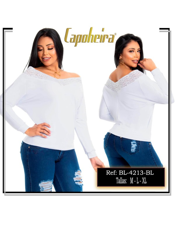 blusa blanca capoheira bl4213