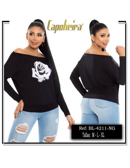 blusa capoheira negra bl4211