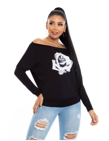 blusa capoheira negra delantera bl4211