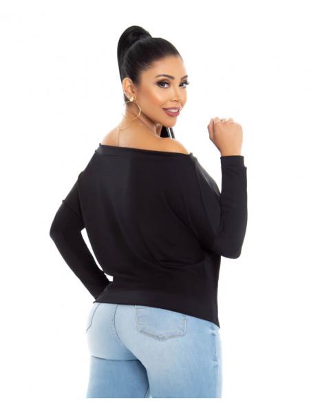 blusa capoheira negra trasera bl4211