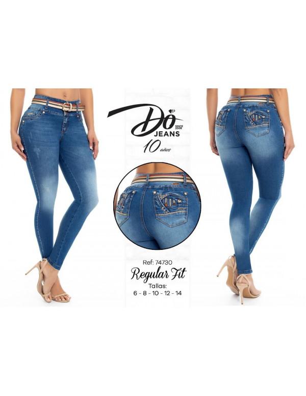 pantalon colombiano do jeans azul delantera pd74730