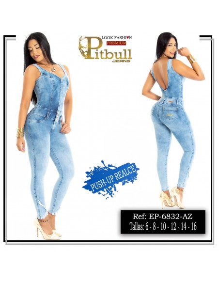 enterizo pitbull azul ep6832