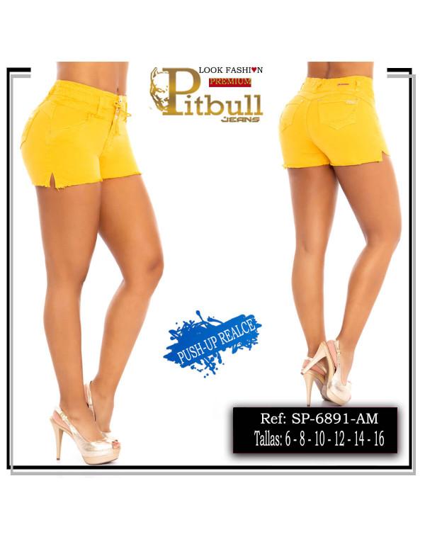 short pitbull amarillo sp6891